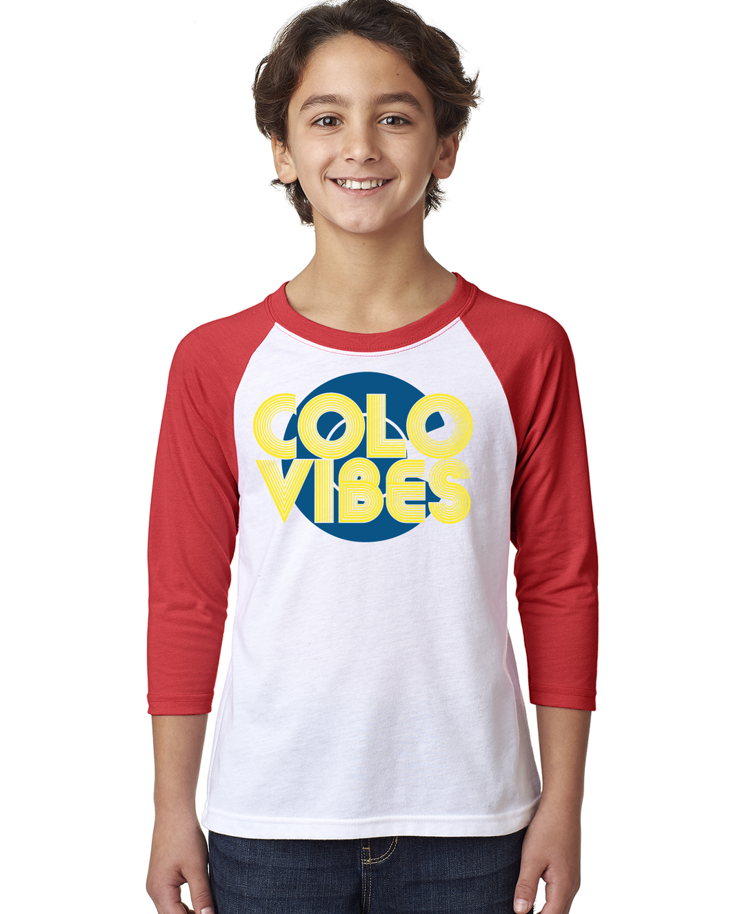 ColoVibes Youth- 3/4 Sleeve Raglan Tee