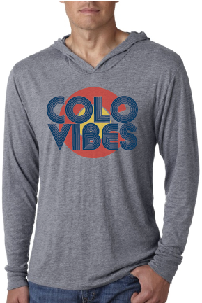 ColoVibes Unisex Hooded T-shirt- Grey
