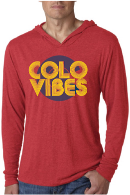 ColoVibes Unisex Hooded T-shirt- Red