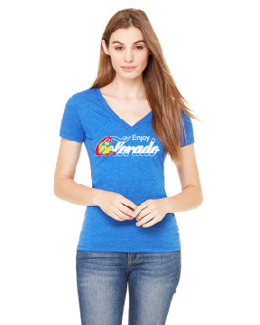 Enjoy Colorado- Ladies Deep V-neck