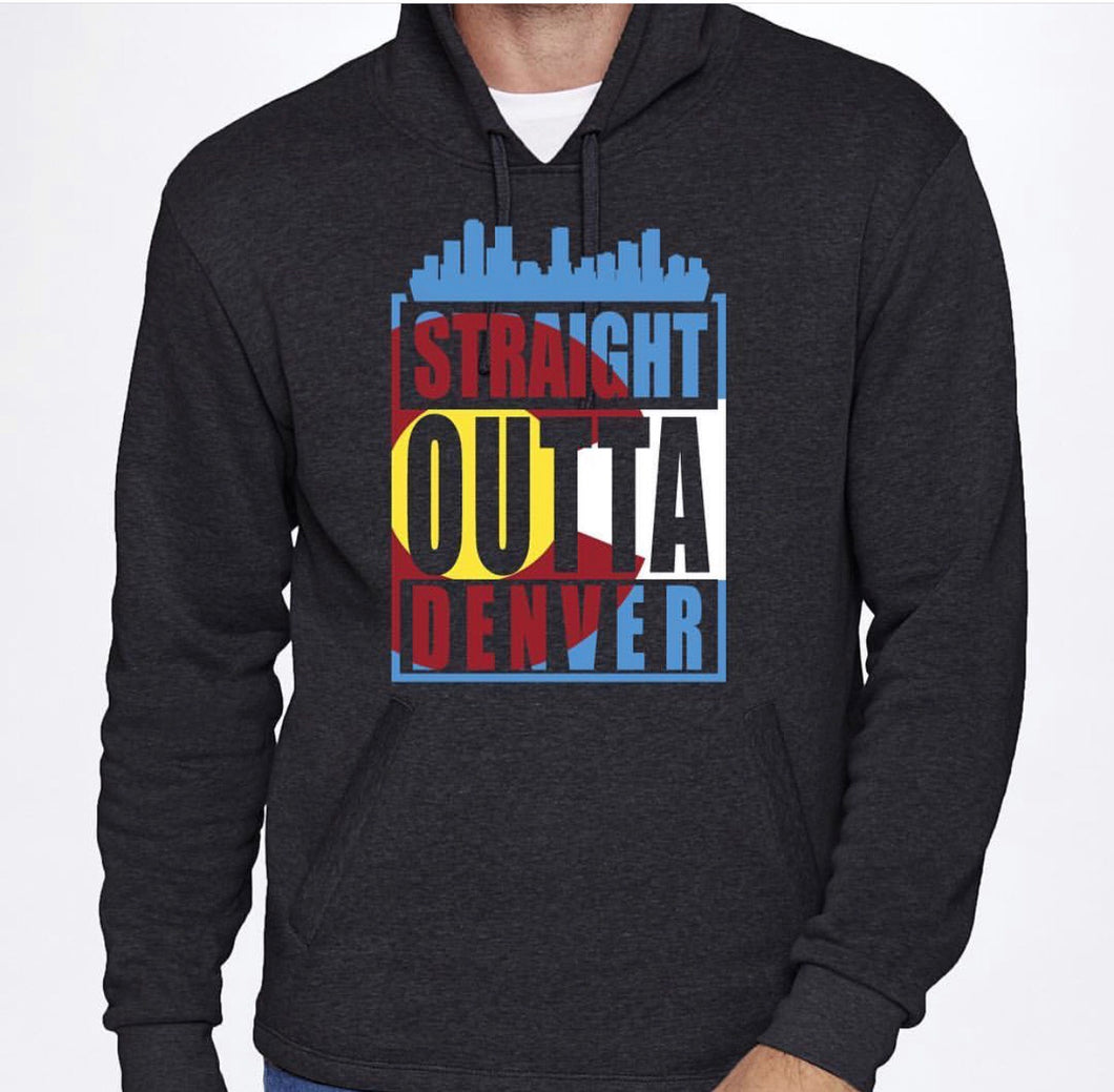 Straight Outta Denver PullOver Hoodie