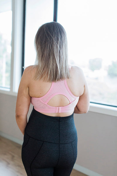 Nursing Sports Bras - Pastel Pink