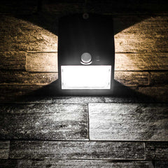 Black 1.5 Watt Solar LED Motion Sensor Security Light MP15SLEDB