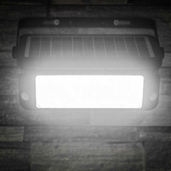 Black 10 Watt Solar LED Flood Light with Sensors MP10SLEDB