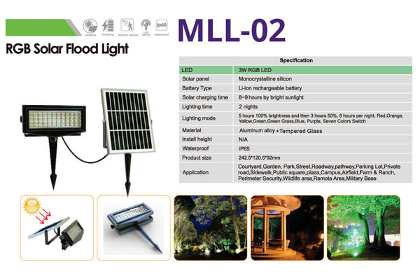 MOLL-02 RGB Solar Flood Light