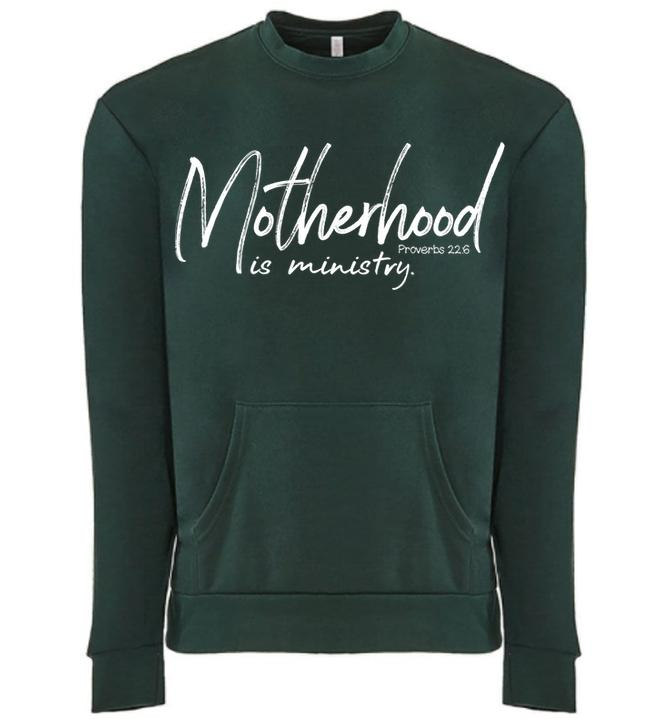 ** PREORDER ** - MOTHERHOOD POCKET CREWNECK SWEATER