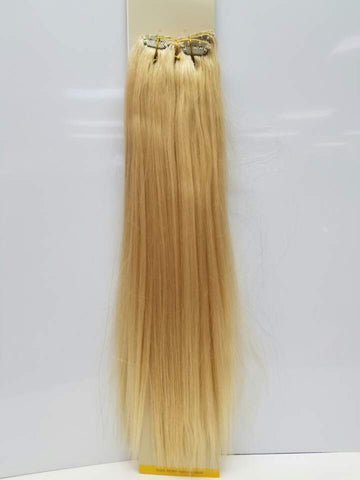 "Black Diamond 18"" 7 Piece 100% Human Hair Clip In Extensions"
