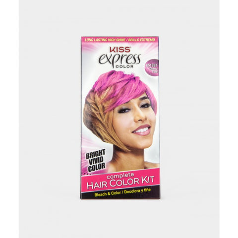 Kiss Express Color Hair Coloring Kit - Cherry Cola