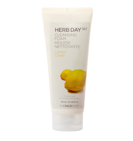 The Face Shop Herb Day 365 Cleansing Foam - Lemon