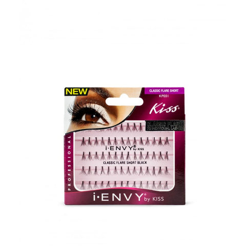 Kiss iEnvy Classic Flare Individual Lashes - Short Black