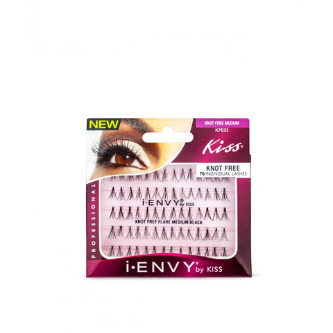 Kiss iEnvy Knot Free Flare individual Lashes - Medium Black