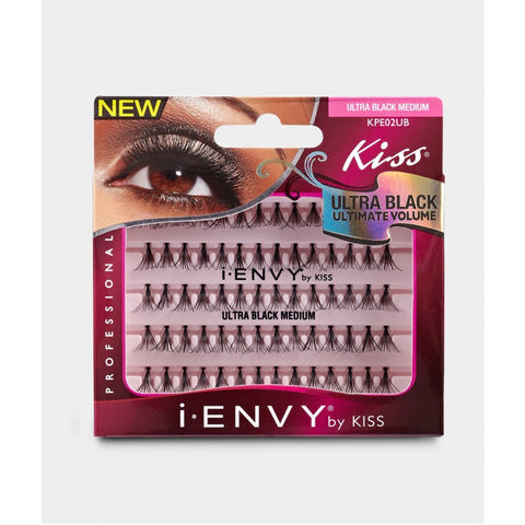 Kiss iEnvy Individual Lashes - Ultra Black Medium