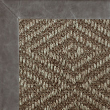 Diamond Sisal II w/ Distressed Leather Border