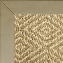 Natural sisal diamond pattern rug bound