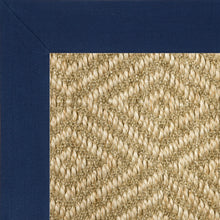 Navy blue binding diamond Natura sisal rug
