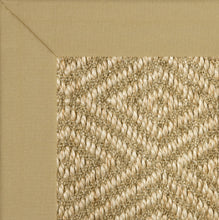 Natural cotton binding mitred corners sisal stark diamond sisal