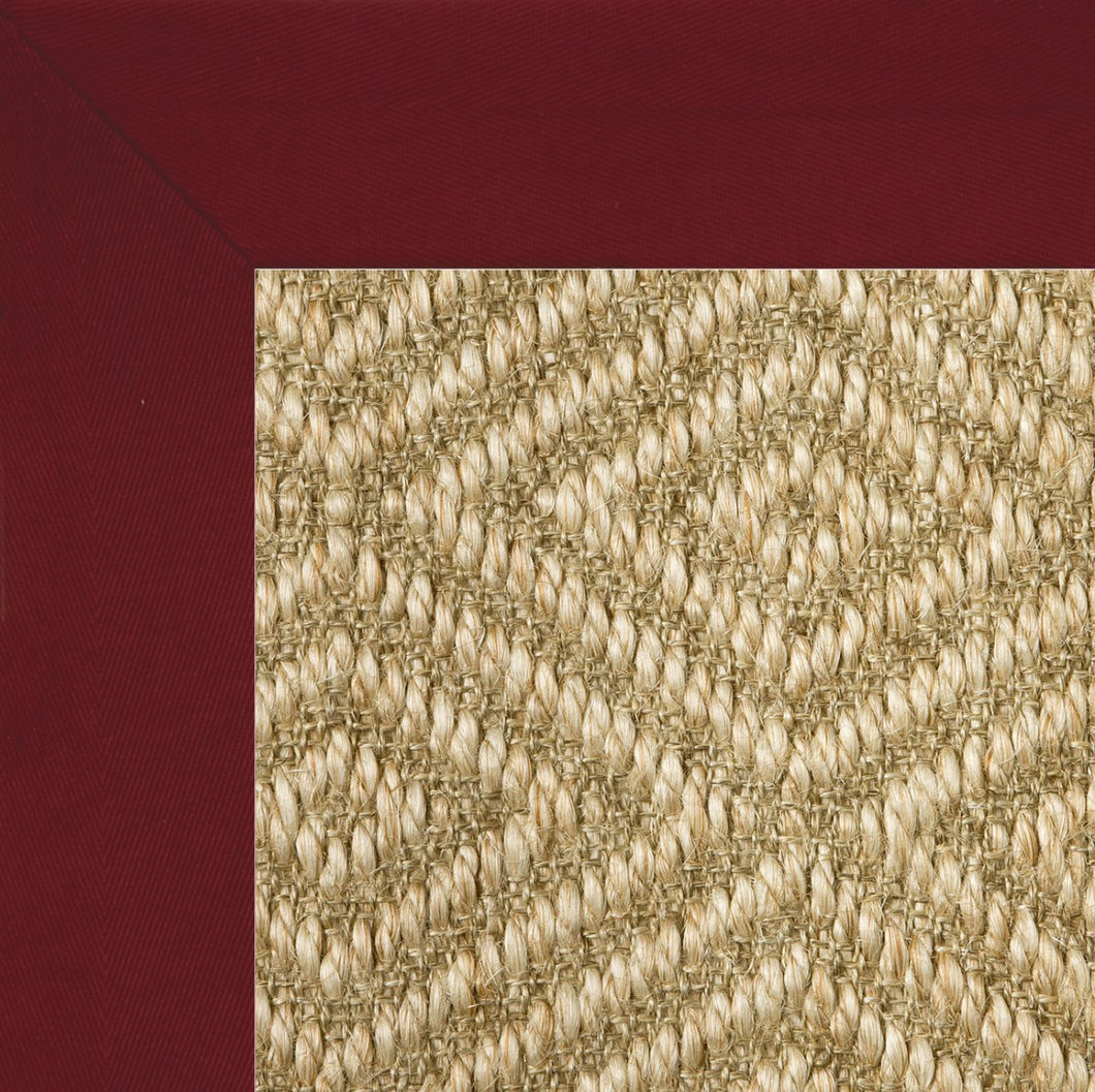 Red binding sisal diamond stark rug