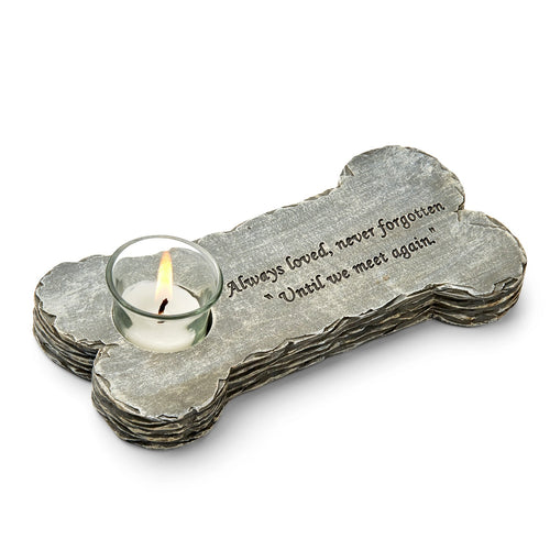 Dog Memorial Candle - Grey (w/s)