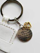 i will hold you in my heart pet key chain white