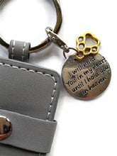 i will hold you in my heart pet key chain grey