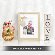 Rustic Wooden Memorial Photograph Frame