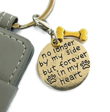 no longer by my side dog memorial key chain