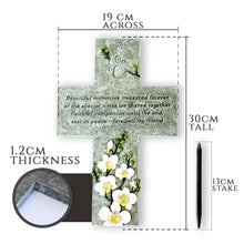Pet Memorial Grave Marker Cross With Paw Prints (WS)