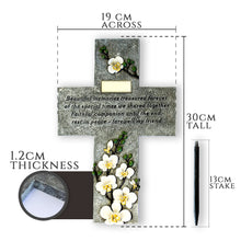 Pet Memorial Grave marker Cross with Plaque