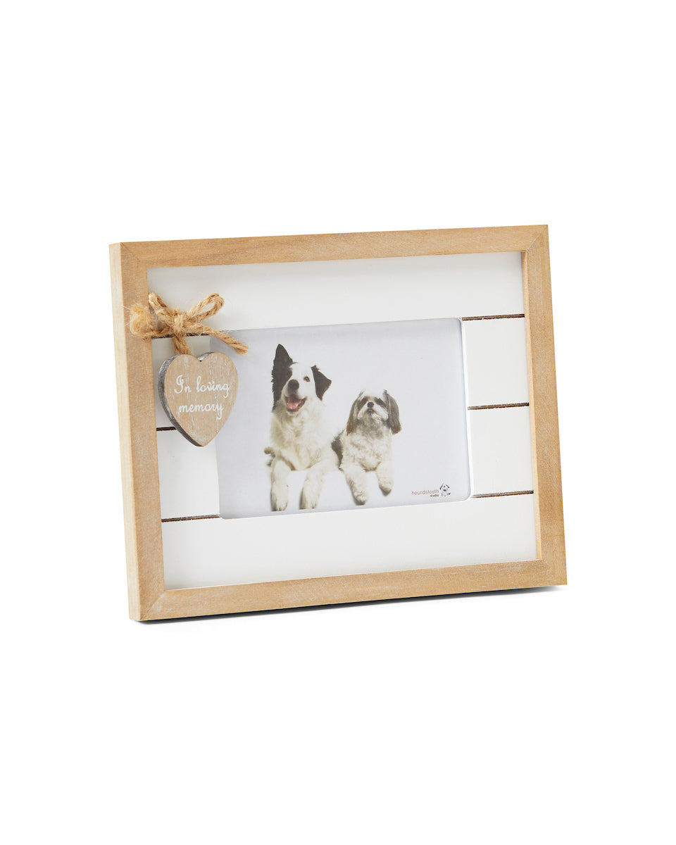 Rustic wooden pet memorial photograph frame – Orchid Valley Pet Caskets