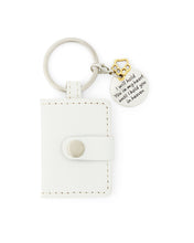 white pet memorial keyring