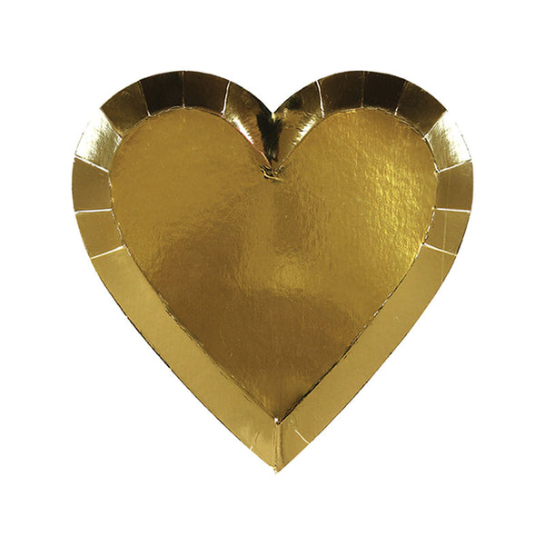 Shiny Gold Heart Plates - Small