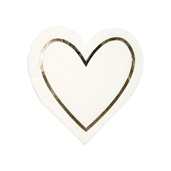 Heart Napkin - Pearlized White