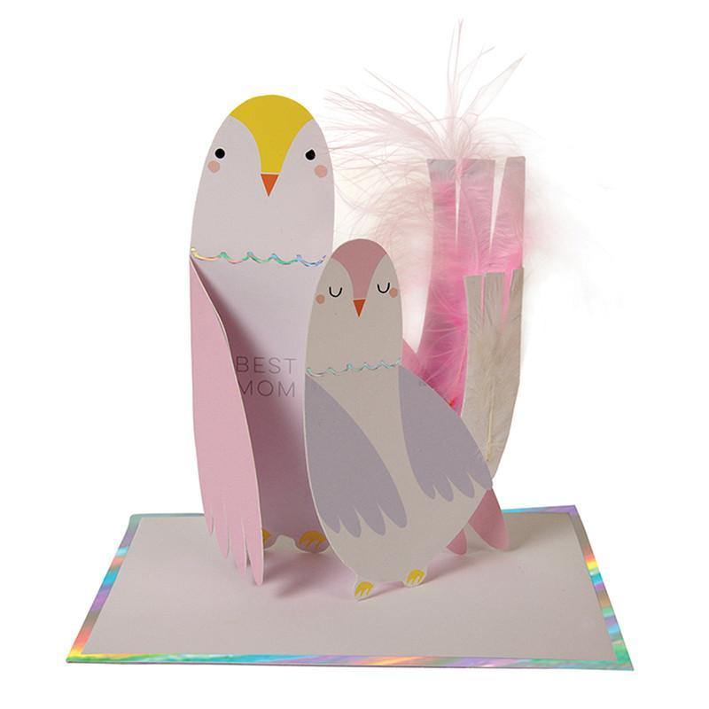 BEST MOM BIRDS Greeting Card