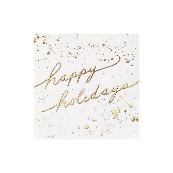 Blanc Holiday Collection - Happy Holidays Cocktail Napkins