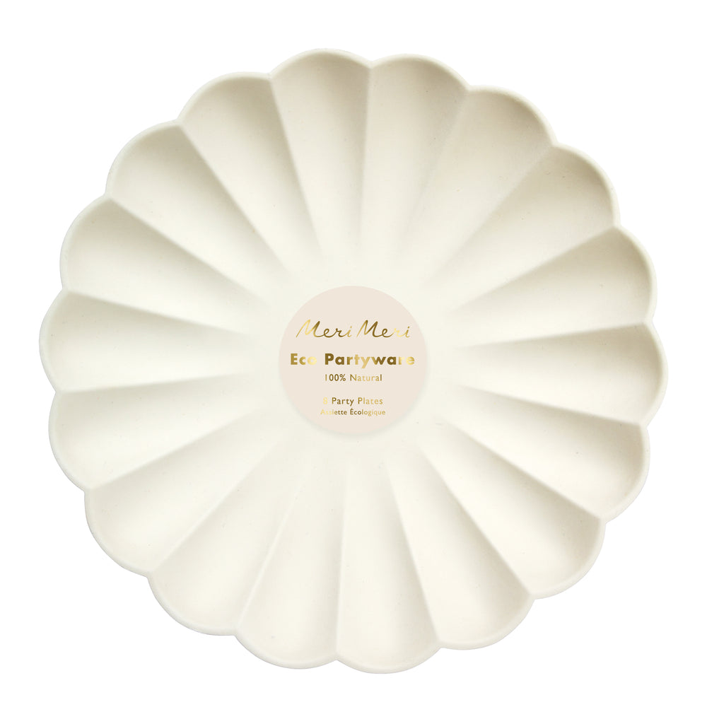 Creme Eco-Friendly large dinner plates in package of 8 large dinner plates