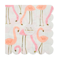 pink and coral flamingo napkins package of sixteen
