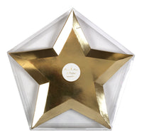 Star Plates - Gold Foil