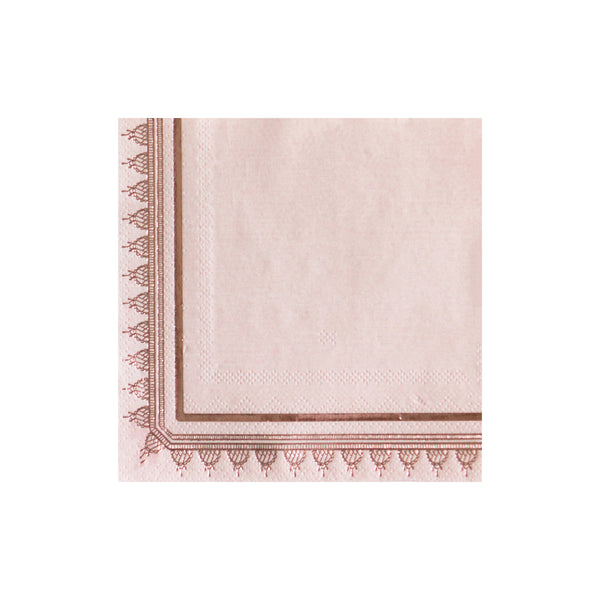 Embellished with a delicate rose gold motif, our Jardin cocktail napkins indulge your feminine side. Soft and dreamy, our plates add an elegant vibe to your bridal showers, birthday tea parties, and all special occasions alike.
