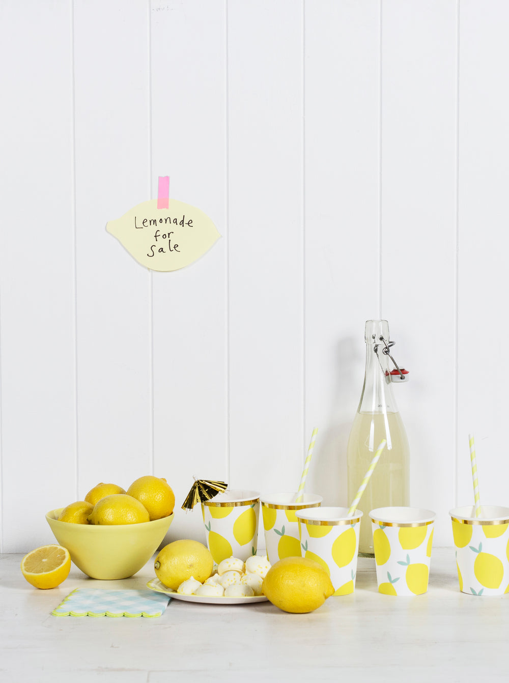 Yellow Gingham Napkin - Small