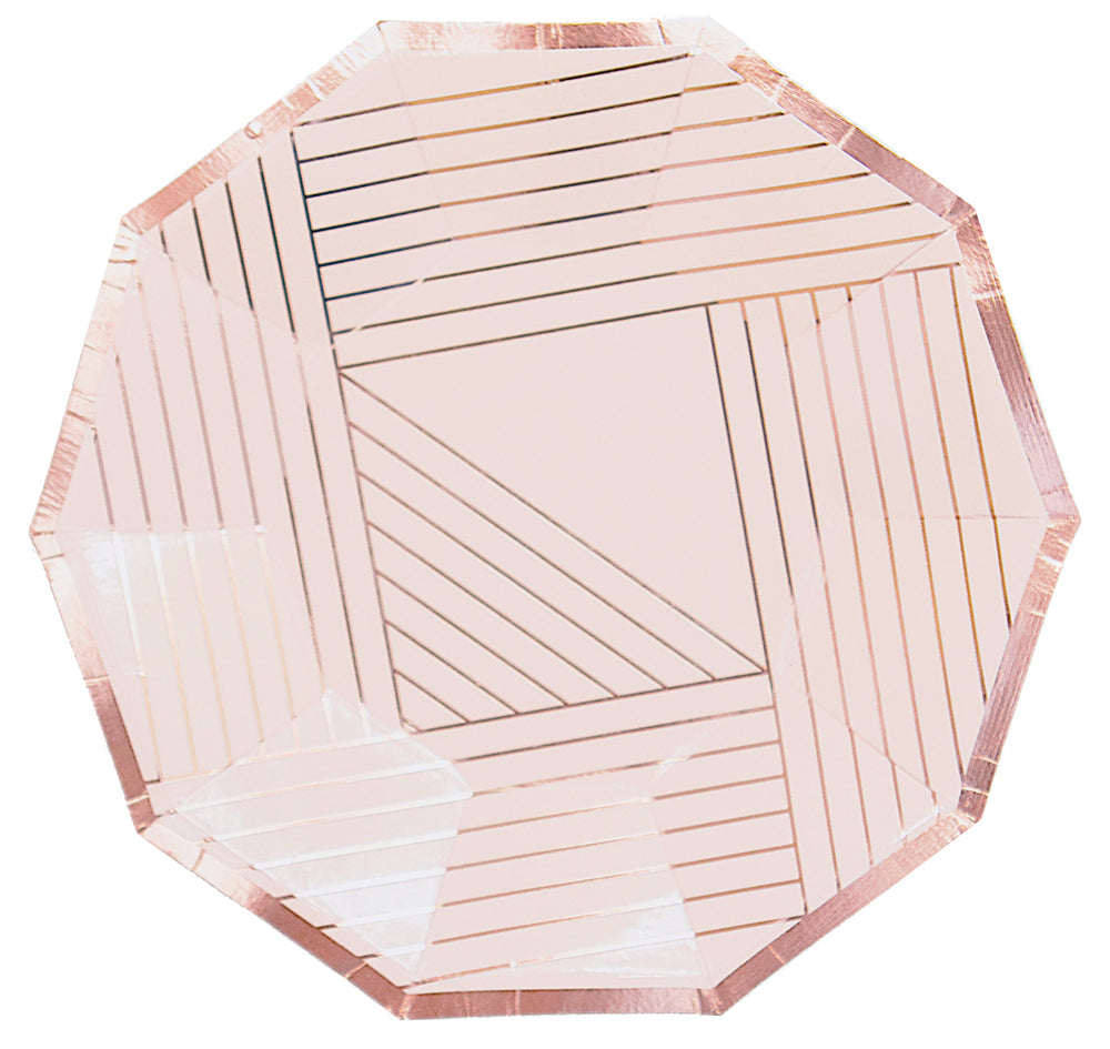 Manhattan - Pink and Rose Gold Plates - Small