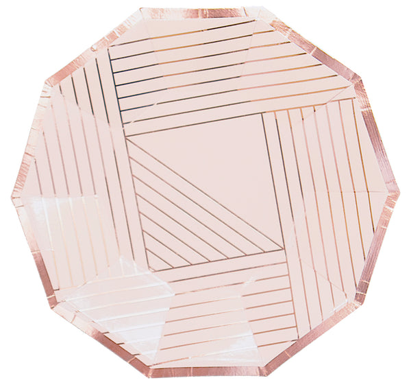 Manhattan - Pale Pink Stripe Plates - Small