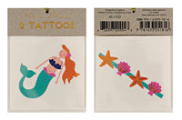 Mermaids & Sea Shells Temporary Tattoos