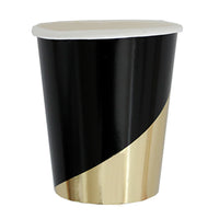 Noir - Black Colorblock Paper Cups