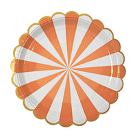 Orange Fan Stripe Plate - Large