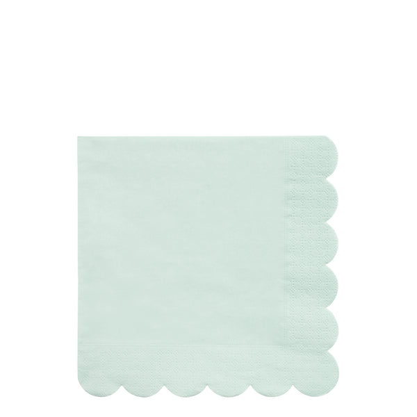 pale mint eco-friendly paper napkins in a pack of twenty napkins