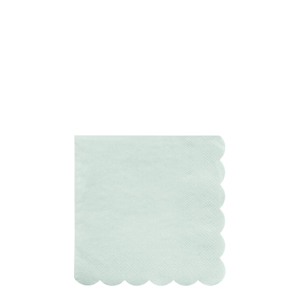pale mint eco-friendly paper napkins in a pack of 20 napkins