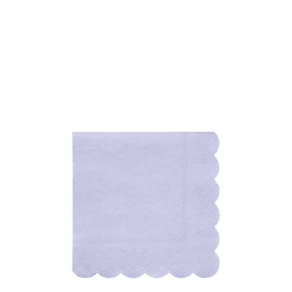 periwinkle beverage and dessert sustainable paper napkins in a pack of 20