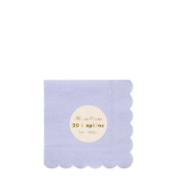 periwinkle eco-friendly paper party napkins pack of twenty napkins