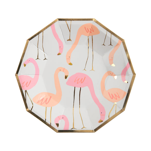 Flamingo Print Plates - Small
