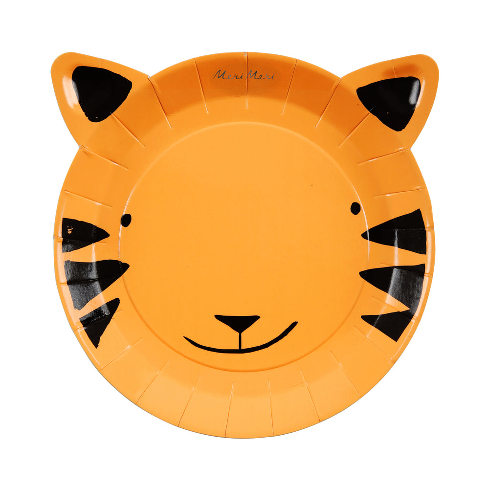 Go Wild Tiger Plates - Small